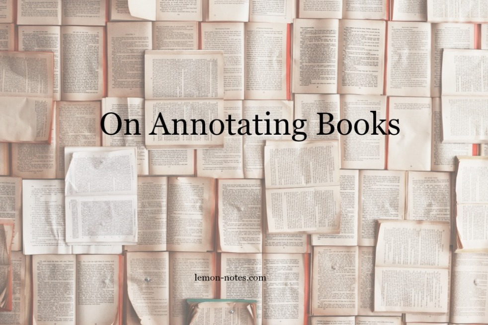 On Annotating Books